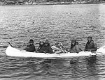 "The late Meshkana ""Sam Rich"" and family near Davis Inlet, not dated. (photo The Arctic Museum, Bowdoin College)"